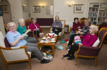 Retirement apartment Owners knit for Age UK and 'fish and chip' babies of Malawi