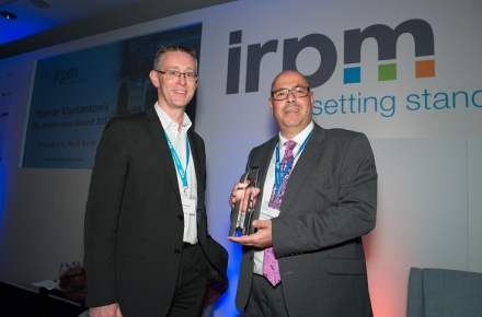 MMS Area Manager Stavros Markantonis recognised for IRPM excellence